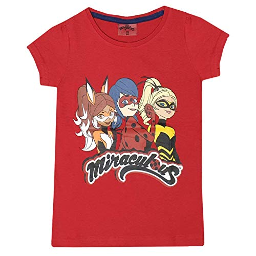 Miraculous Ladybug Mädchen T-Shirt Ladybug Rena Rouge Queen Bee Gr. 8-9 Jahre, rot