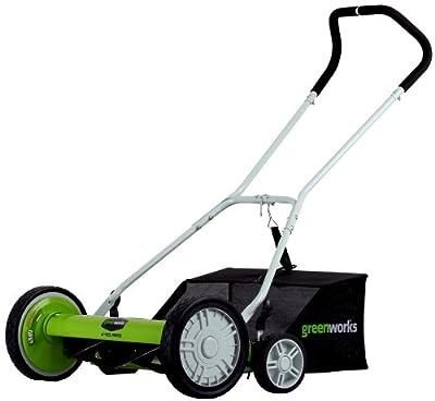 Greenworks 18-Inch Reel Lawn Mower with Grass Catcher 25062
