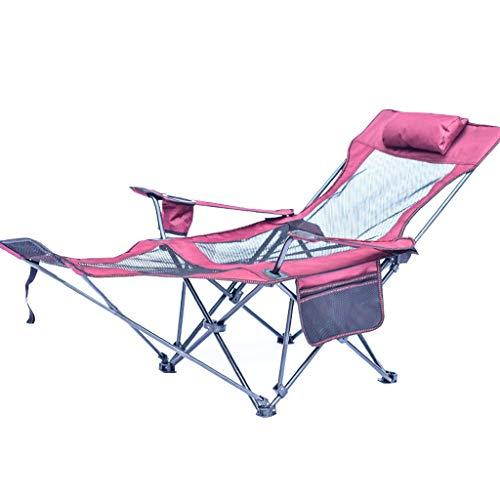 PCLLY outdoor klaprecliner draagbare vissenstoel camping klapbed vrije tijd kruk Siesta ligstoel strand stoel - multicolor optioneel