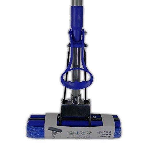 Roll mop Balai Très absorbant Essorage facile Convient pour la plupart des sols durs Manche télescopique réglable PVA