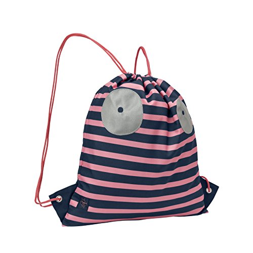 LÄSSIG Kinder Turnbeutel Junge Mädchen mit Kordelzug Rucksackfunktion Sportbeutel Schule Kindergarten / Mini String Bag, Little Monsters Mad Mabel
