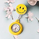 LLRR Enfermera Clip Reloj De Bolsillo,Reloj Especial de Enfermera Luminosa de Silicona, Reloj de Bolsillo elástico de Dibujos animados-5-06 Amarillo,Reloj Médico de Bolsillo
