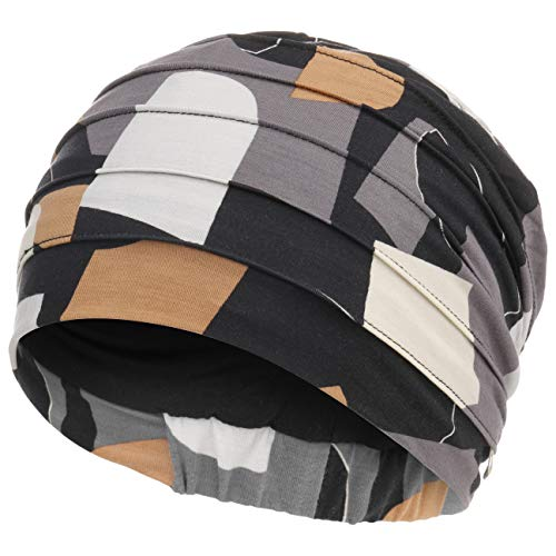 Christine Headwear - Turbante Yoga estampado Shapes of Browns 671 en bambú (Quimioterapia) Gorro Oncológico/Alopecia