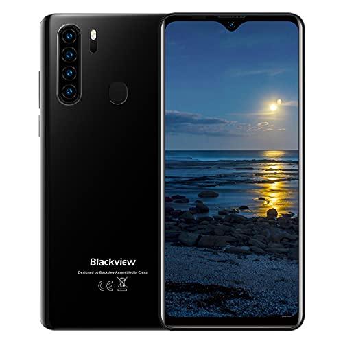 Blackview A80 Pro 2020 Teléfono Móvil Libres 4G, Pantalla HD + de 6.49', 4GB RAM+64GB ROM, Cuatro Cámaras, Batería de 4680 mAh, Grosor de 8.8 mm, Smartphone Android 9.0, Dual SIM,Tipo C (EU Versión)