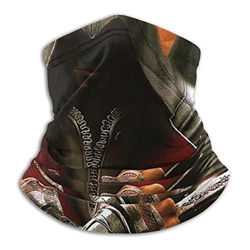 asdew987 Assassin'S Creed - Polaina para cuello, máscara de cara, bandana sin costuras, diadema para hombres y mujeres, protección contra el viento, protección contra el polvo, esquí, equitación