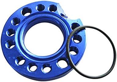 Black Akozon 28MM CNC Carb Adjuster Carburetor Spinner Plate Adaptor Inlet Manifold Runner Plate for Pit Dirt Bike