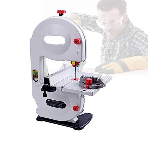 Sierra de cinta de precisión de 350 W, sierra de cinta multifunción con hoja de sierra, inclinación del banco de trabajo de 0 a 45 °, profundidad de corte de 80 Mm / 3 ', ancho de corte de 190 Mm / 7