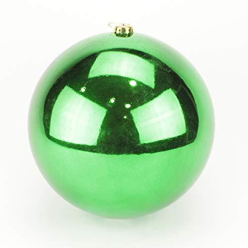 ALMACENES CASA ANGEL Bola DE Navidad Gigante EN Colores Metalizados DE 30cm DE DIÁMETRO Ideal para DECORACIÓN DE Navidad, Ideal para DECORACIÓN DE Tiendas Y ESCAPARATES (Verde, 1 Unidad)