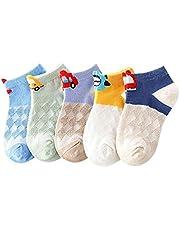 XPXGMT 5 pares de calcetines de malla de coche de dibujos animados para niños de 1 a 8 años