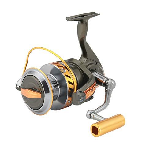 HiXB Carrete Giratorio De Pesca - Carrete Giratorio 10000 SúPer Capacidad MúLtiple 12 + 1bb RelacióN De Engranajes: 4.7: 1 La Mejor OpcióN para La Pesca