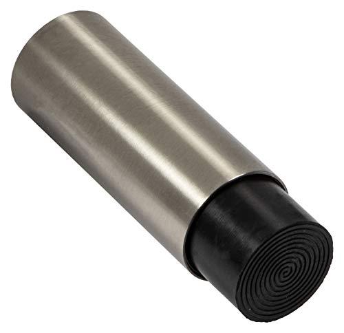 Gedotec Design EDELSTAHL Türstopper Gummi-Puffer für Wandmontage - MODERN | Tiefe: 78 mm | 16 mm Gummiauflage | stabiler Wand-Puffer inkl. Befestigungsmaterial | 1 Stück - Wand-Türpuffer zum Schrauben