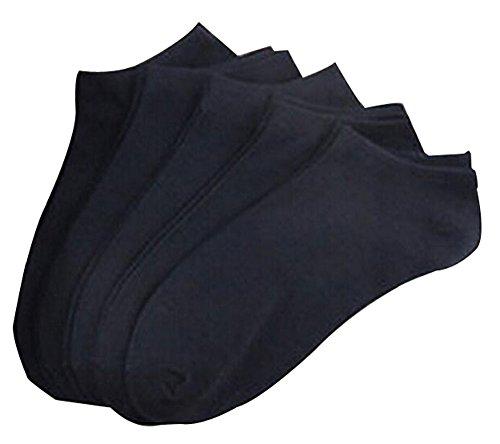 BLANCHO BEDDING Set de 5 Chaussettes Courtes Chaussettes en Coton Hommes Chaussettes Noir #01