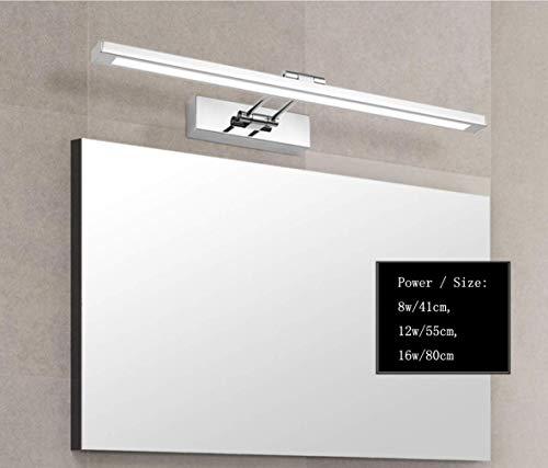 WIVION LED Spiegelleuchte Badezimmer Neutralweiß 4000K, Montage IP44 Edelstahl Wandleuchte Spiegellampe,Kein Flimmern Badezimmerschrank Spiegelleuchten Schrankleuchte,16w/80cm