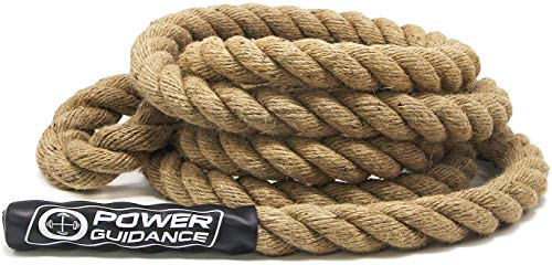 POWER GUIDANCE Cuerda de Escalada, 38 mm de diámetro, no Necesita Soporte de Montaje, Longitud Disponible: 4,5 m, 6 m, 7,5 m, 9 m, 10,5 m, 12 m, 15 m