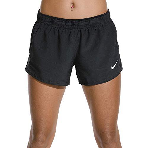 Nike Donna 10K Pantaloncini da corsa Donna, Nero (Black/Wolf Grey), S