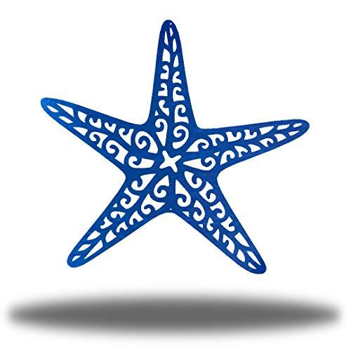 Riverside Designs Coastal Starfish Ocean Beach Metal Art Steel Wall Decor (18', Blue)
