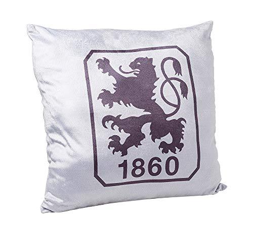 TSV 1860 München kussen, velours kussen logo grijs