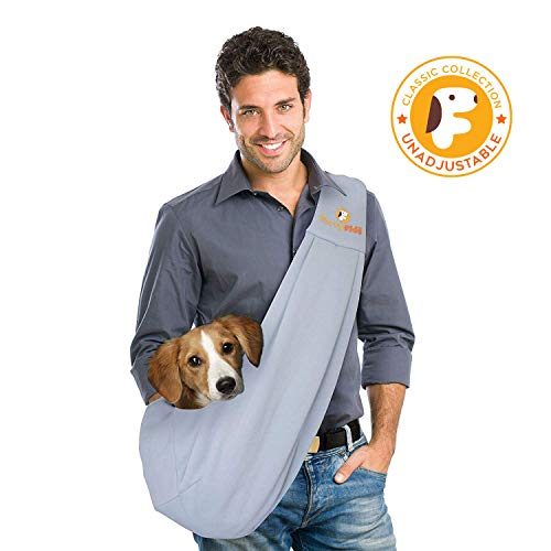 FurryFido Reversible Pet Sling Carrier for Cats Dogs up to 13+ lbs, Grey