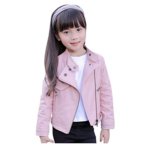 Ucoolcc Baby Kinder Lederjacke Mädchen Pu Nähte Revers Mantel Strickjacke Kleidung Warm Outwear Teens Warme Felljacke Bomberjacke