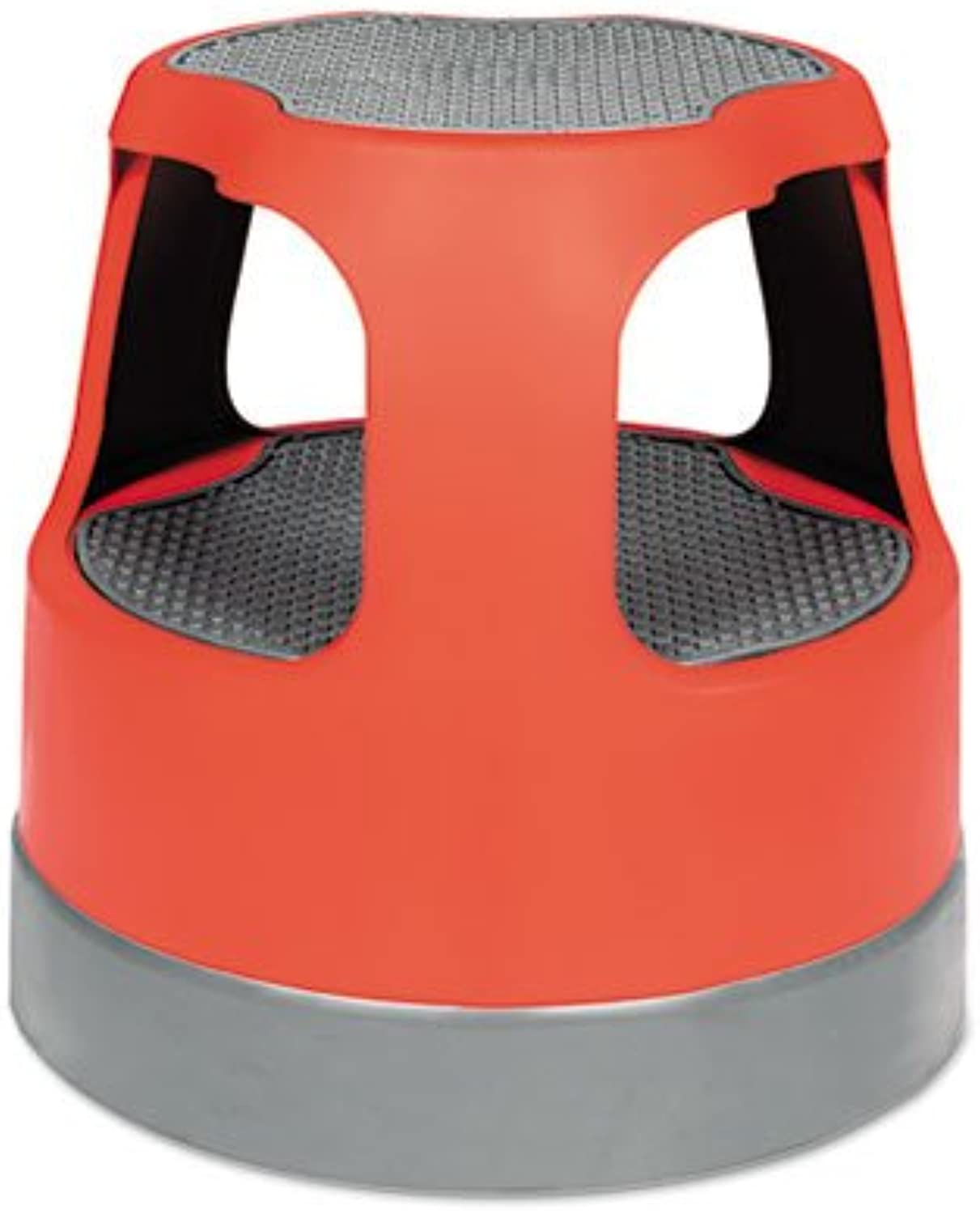 Scooter Stool Round, 15 , Step & Lock Wheels, to 300 lbs, Red