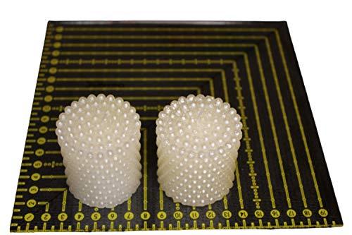 Mitella velas decorativas de lujo, sin perfume de cera de parafina, con un diseño elegante, un regalo que aporta mimos, amor, armonía, equilibrio (1000 perlas blancas de 5 x 5 cm, 2 unidades)