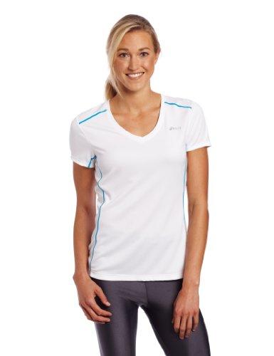 ASICS Fujitrail Damen Kurzarmshirt, Damen, weiß, Large