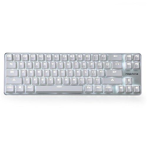 Mechanical Gaming Tastatur gateron braun Switch Wired Backlit Mechanical Mini-Design Tastatur weiß Silber Magicforce von Qisan Kabellose optische 68keys gateron Brown Switch White