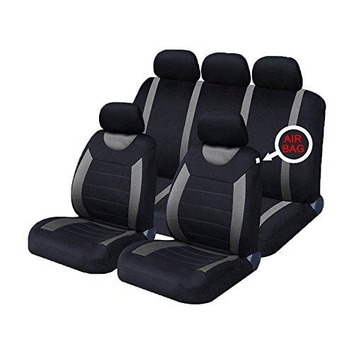 Xtremeauto® Carnaby grau/schwarz Universal Autositzbezüge Set