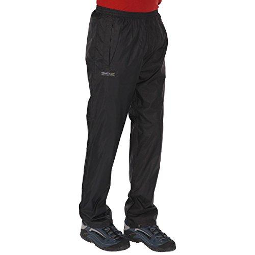 Regatta Herren Pack-It Regenhose für Herren, Schwarz, 48-50 EU (Herstellergröße: M )