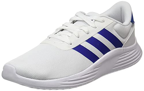 adidas Lite Racer 2.0, Sneaker Hombre, Footwear White/Team Royal Blue/Grey, 42 2/3 EU