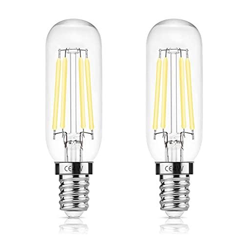 DORESshop Ampoule Hotte Aspirante 40W de Remplacement Incandescent, E14 T25 LED 4W Ampoule de hotte, Ampoule à Filament Edison, Blanc, 6000K, Lampe Pour Hotte Aspirante, Paquet de 2