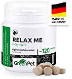 GreenPet Relax Me 120 Compresse per Cani, Integratore Calmante Extra Forte, Natural De-Stressing And Calming, Anti-Stress, Sedativo Naturale