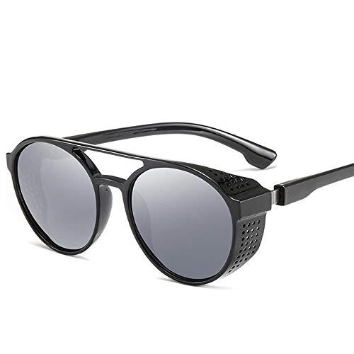 NIUASH Sonnenbrille polarisiert Brille Retro Nachtsichtfahrer Brille Runde Klappbrille Brille Vollbrille für Nachtfahrt-A