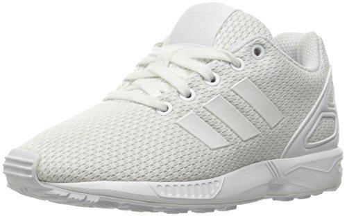 adidas Originals Boys' ZX Flux C Running Shoe, White, 1 Medium US Little Kid