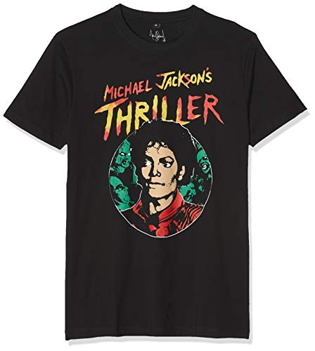 MERCHCODE heren Michael Jackson Thriller Portrait Tee met print van het King of Pop T-shirt