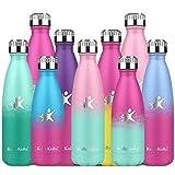 KollyKolla Botella de Agua Acero Inoxidable, Termo Sin BPA Ecológica, Botellas...