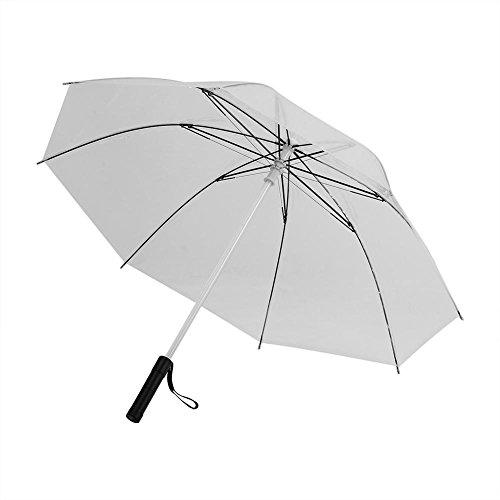 Led Umbrella Outdoor,Acogedor Lightsaber Umbrella,Flashlight Umbrella,Color Changing Umbrella with 7 Color for Safely Night Walking(Transparent)