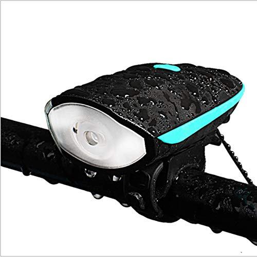 YANG WU Luces de Bicicleta, Luces Delanteras de bocina LED a Prueba de Lluvia para Bicicleta, iluminación de Tres Modos de Carga USB para conducción Nocturna, Adecuada para Varias Bicicletas 2PCS