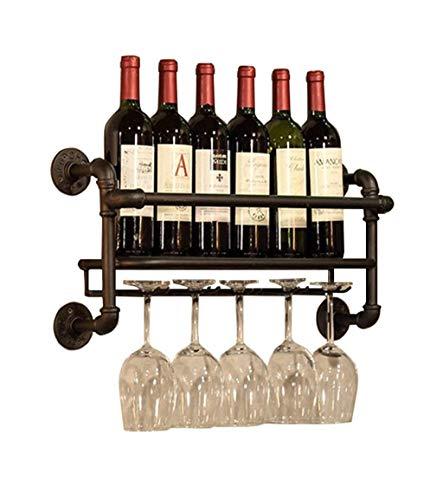Decoraciones De Pared Botelleros para Vino Soporte De Pared Metal   Soporte para Copa De Vino Colgante   Porta Botellas De Vino Vintage   Porta Vino Rústico De Pared   Estante De Pared Organ