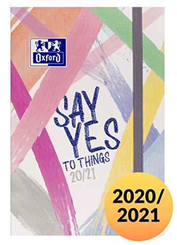 Oxford Schülerkalender 2020/2021 Schriftzug Say yes 2 Seiten = 1 Woche 12x18 64 Blatt gebunden