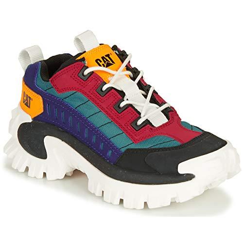 Caterpillar CAT Intruder P724502 Sneaker Freizeitschuhe Turnschuhe Schuhe Damen (P724502 Black/Scarlet, Numeric_40)