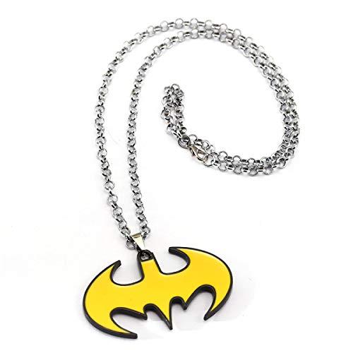 Dark Knight Batman Collana Uomo Pendente Catena A Maglia In Acciaio Inossidabile Collane Regalo Ragazzo Accessori Gioielli Film