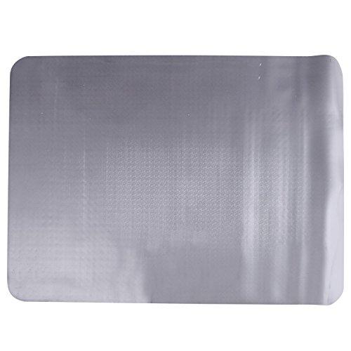 HOMCOM Alfombra Protectora para Silla de Oficina 90x120cm Protector Suelo Enmoquetado (Cuadrilongo, Sin picos antideslizantes) 🔥