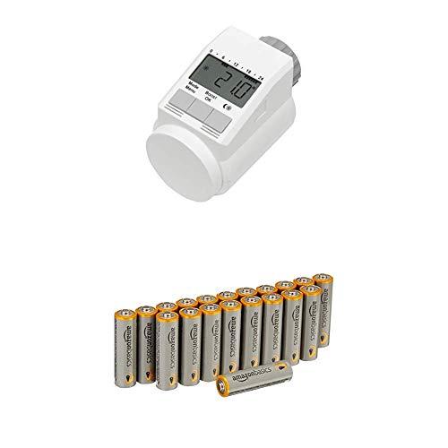 Eqiva Heizkörperthermostat Model L mit Amazon Basics Batterien
