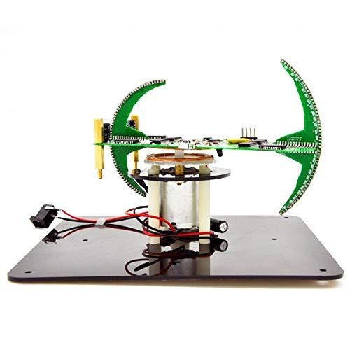 Relais LED Flash Kit Kreative POV Löten Training Kit DIY Biaxial Sphärisch Rotierend Elektronik