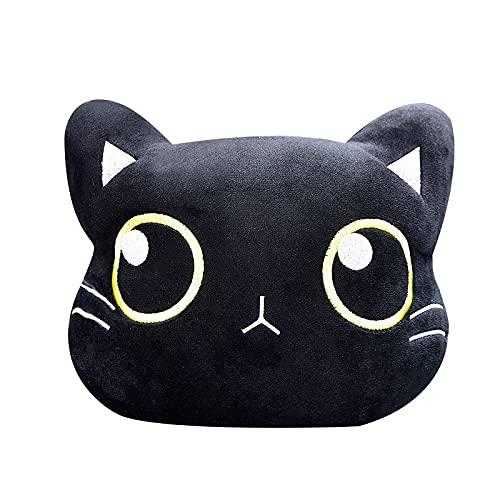 jwj Almohada de viaje con diseño de gato lindo para el cuello del coche, almohada de dibujos animados (color: 1 almohada para reposacabezas)