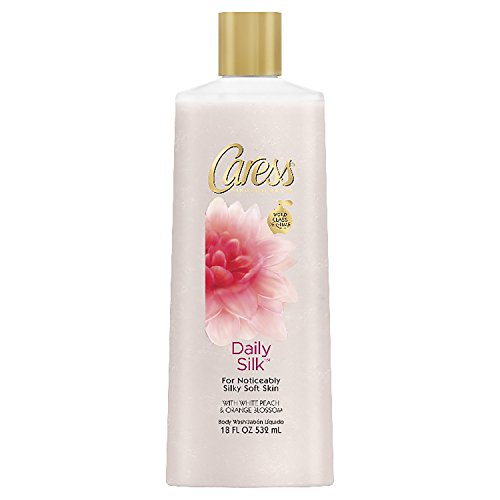 Caress Daily Silk White Peach & Orange Blossom Scent Body Wash Soap - 18 fl oz