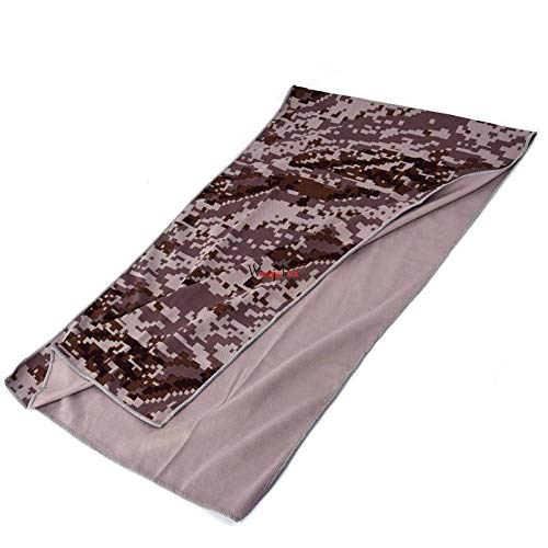 YCHZX Quick-Dry Towel Ice Cooling Towel Portable Camouflage On for Outdoor Sports Running Gym Yoga Cooler Hand Face Towel 100x30cm-Camouflage Coffee