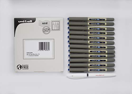 Uni-ball UB-157 Eye Rollerball inchiostro blu x 12 + 1 x esclusivo gel stick