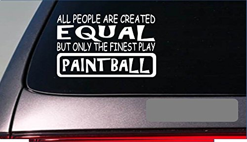 """Paintball Equal Sticker *G701* 8\"""" Vinyl Paintball Automatic Trigger Mask Suit Decal Vinyl Sticker For Cars, Trucks, Laptops, Fridge and More"""